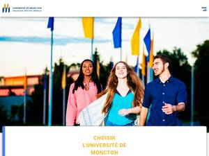 Université de Moncton's Website Screenshot