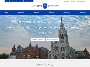 Saint Louis University's Website Screenshot