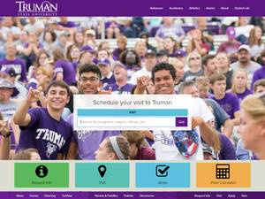 University at truman.edu Screenshot