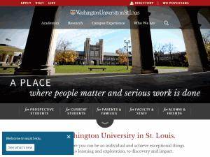 Washington University in St. Louis Screenshot