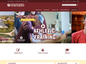 Montana State University-Northern's Website Screenshot