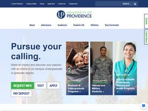University of Providence's Website Screenshot