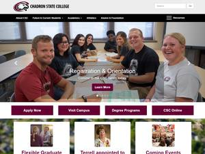 Chadron State College's Website Screenshot