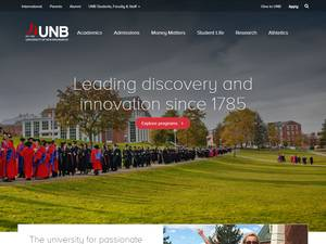 University of New Brunswick's Website Screenshot