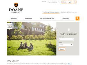 Doane University's Website Screenshot