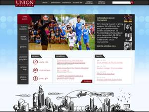 Union College, Nebraska's Website Screenshot