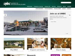 University of Northern British Columbia Screenshot
