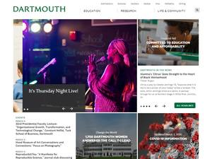 Dartmouth College's Website Screenshot