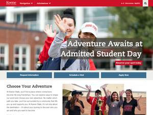 Keene State College's Website Screenshot