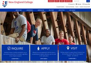 New England College's Website Screenshot