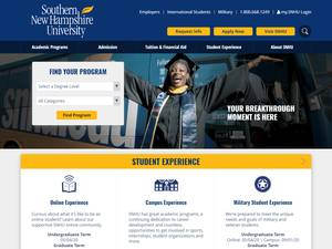 Southern New Hampshire University's Website Screenshot