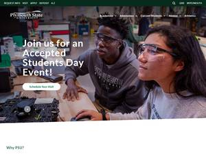 Plymouth State University's Website Screenshot