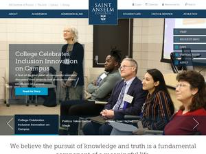Saint Anselm College's Website Screenshot