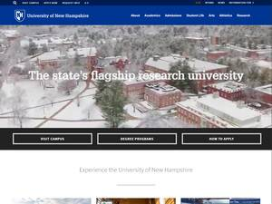 University of New Hampshire Screenshot
