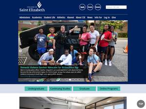 College of Saint Elizabeth's Website Screenshot
