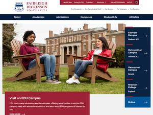 Fairleigh Dickinson University's Website Screenshot