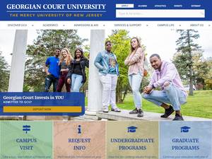 Georgian Court University Screenshot