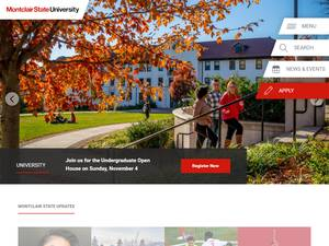 Montclair State University Screenshot