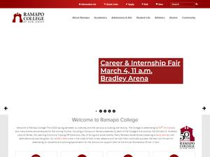 Ramapo College of New Jersey's Website Screenshot