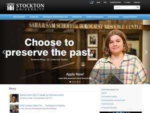 Stockton University's Website Screenshot