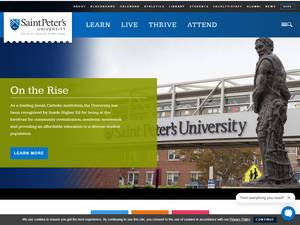 Saint Peter's University's Website Screenshot