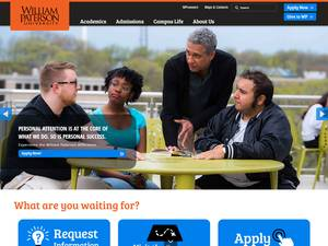 William Paterson University of New Jersey's Website Screenshot