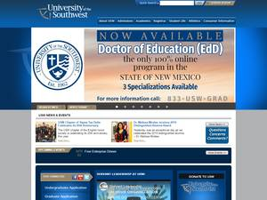 University of the Southwest's Website Screenshot