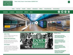 Eastern New Mexico University's Website Screenshot