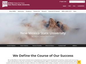 New Mexico State University's Website Screenshot