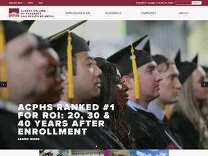 Albany College of Pharmacy and Health Sciences's Website Screenshot