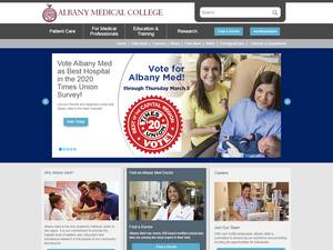 Albany Medical College's Website Screenshot