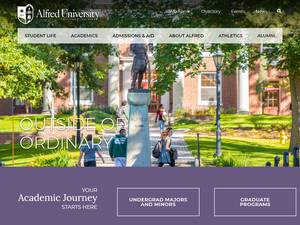 Alfred University's Website Screenshot