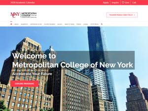 Metropolitan College of New York's Website Screenshot