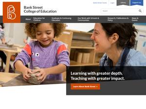 Bank Street College of Education's Website Screenshot