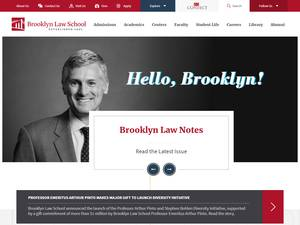 Brooklyn Law School's Website Screenshot