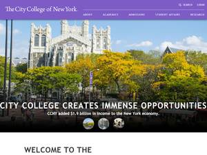 The City College of New York's Website Screenshot