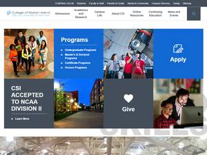 College of Staten Island's Website Screenshot