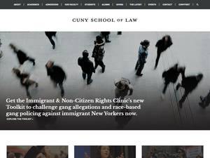 CUNY School of Law's Website Screenshot
