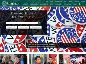 Clarkson University's Website Screenshot