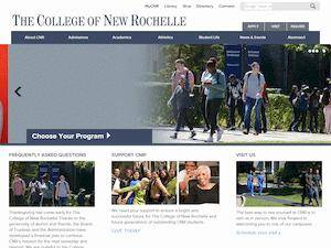 The College of New Rochelle's Website Screenshot