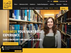 The College of Saint Rose's Website Screenshot