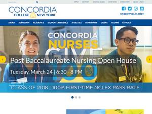 Concordia College-New York's Website Screenshot