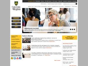 University of Regina's Website Screenshot