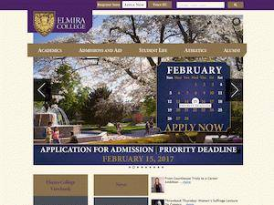 Elmira College's Website Screenshot