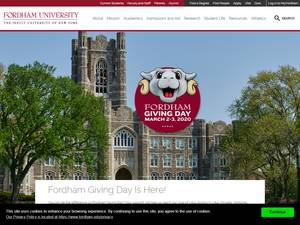 Fordham University Screenshot