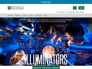 University of Saskatchewan's Website Screenshot