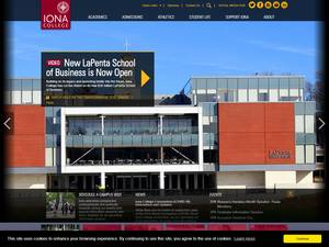 Iona College's Website Screenshot
