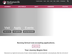 Manhattanville College's Website Screenshot