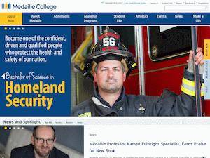Medaille College's Website Screenshot