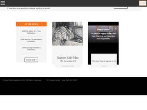 New York Academy of Art's Website Screenshot